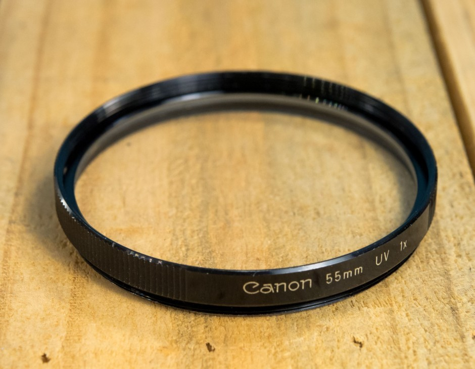 canon e55 filter - 55mm uva (black) #13373